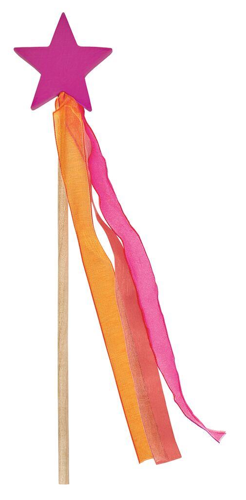 Magischer Zauberstab aus Holz pink