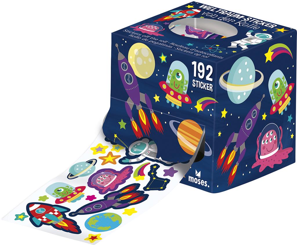 Sticker von der Rolle Weltraum