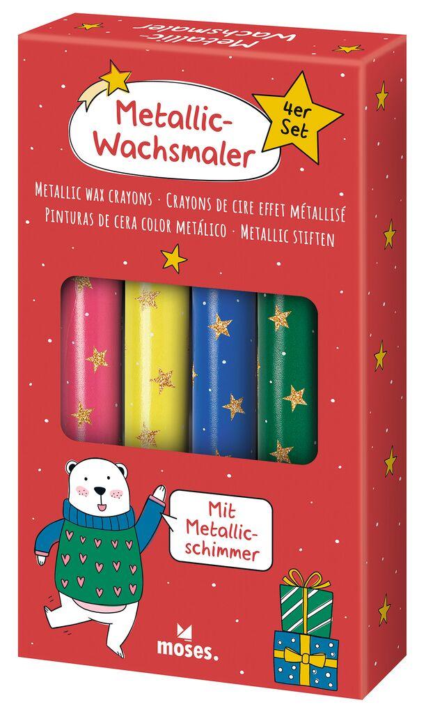 Metallic-Wachsmaler Sternenstaub 4er Set