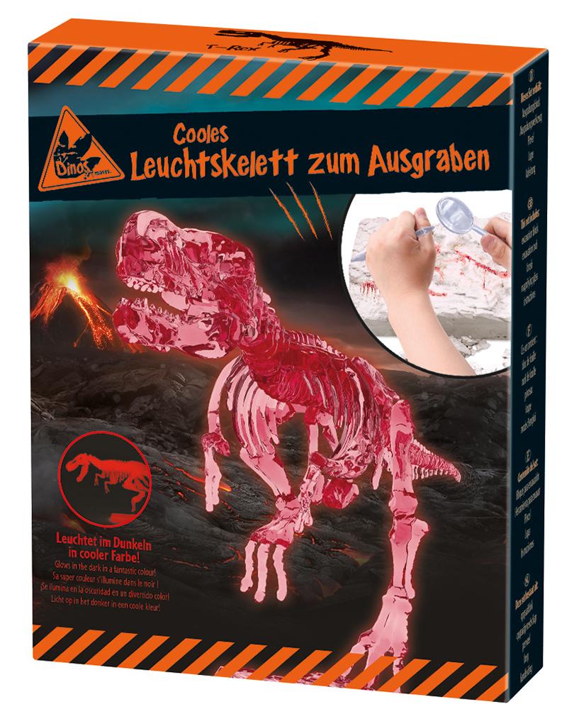 Cooles Leuchtskelett zum Ausgraben T-Rex