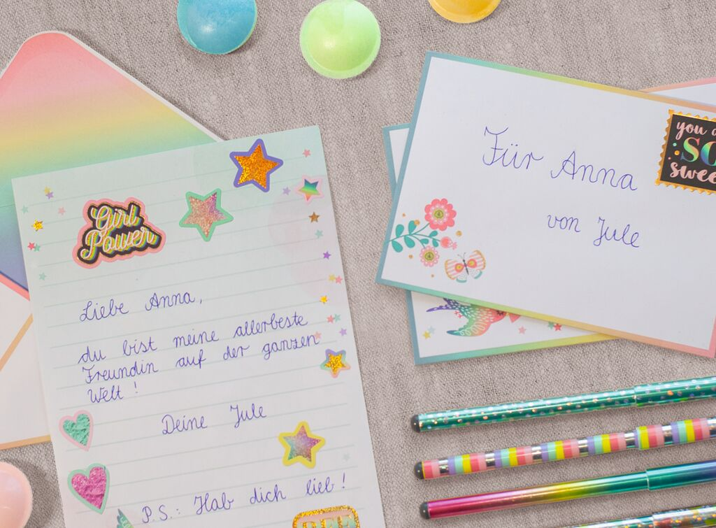 Flowers & Friends Briefpapier-Set