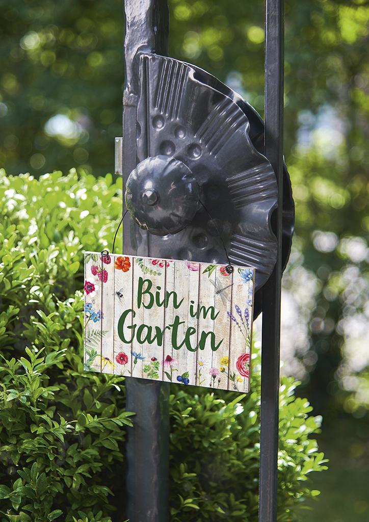 Blatt & Blüte Gartenschild (versch. Motive)