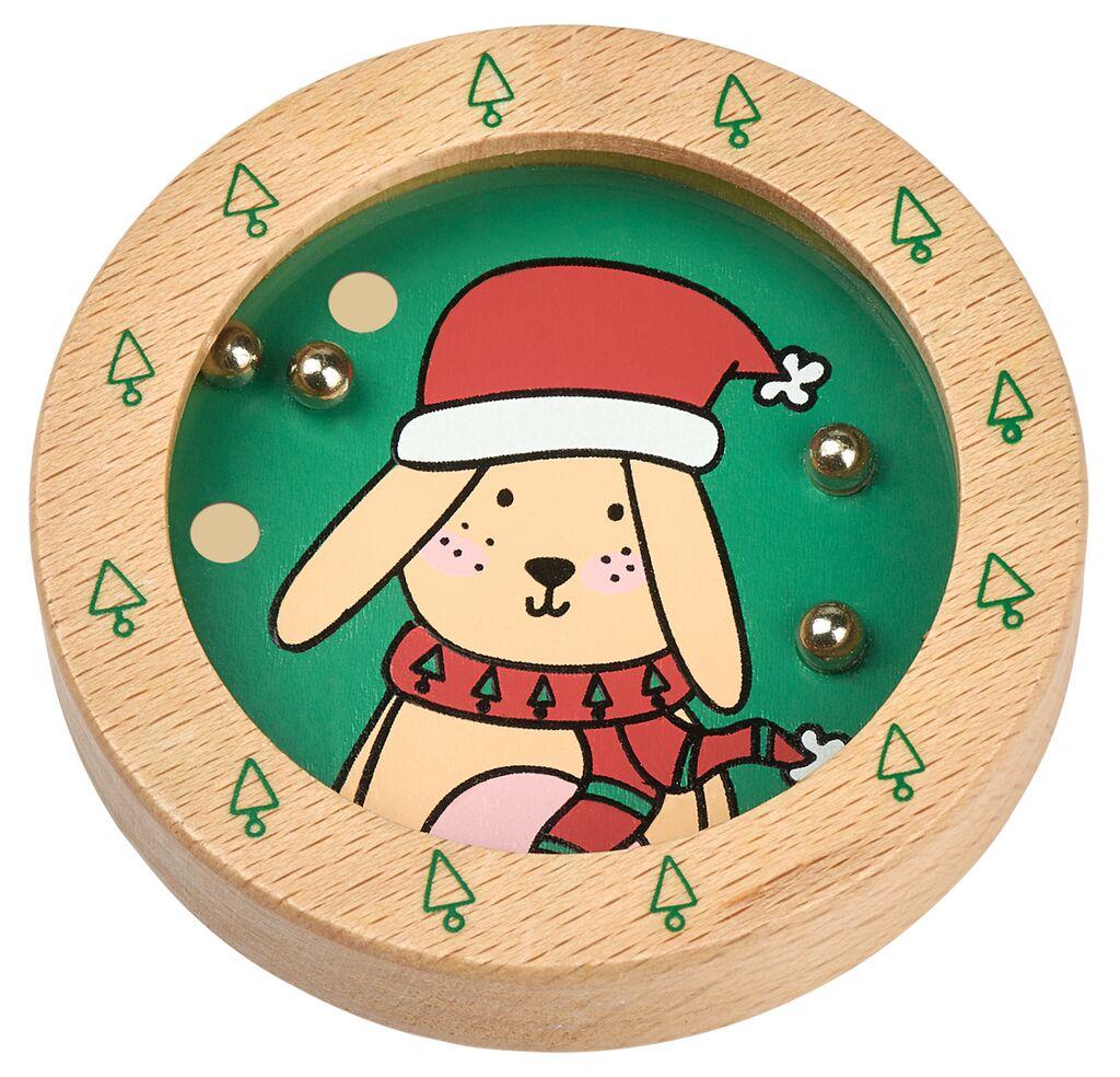 Holz-Geduldspiel Weihnachtsfreunde Hase