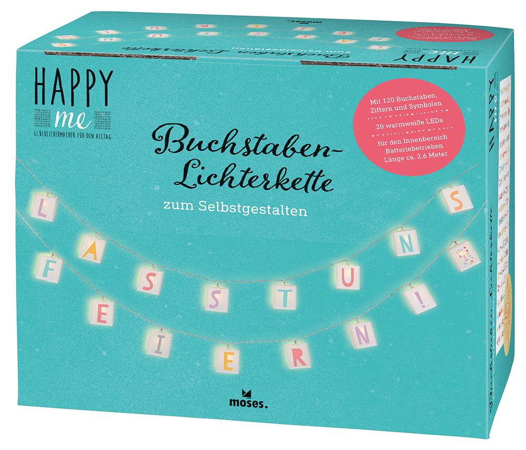 Happy me Buchstaben-Lichterkette