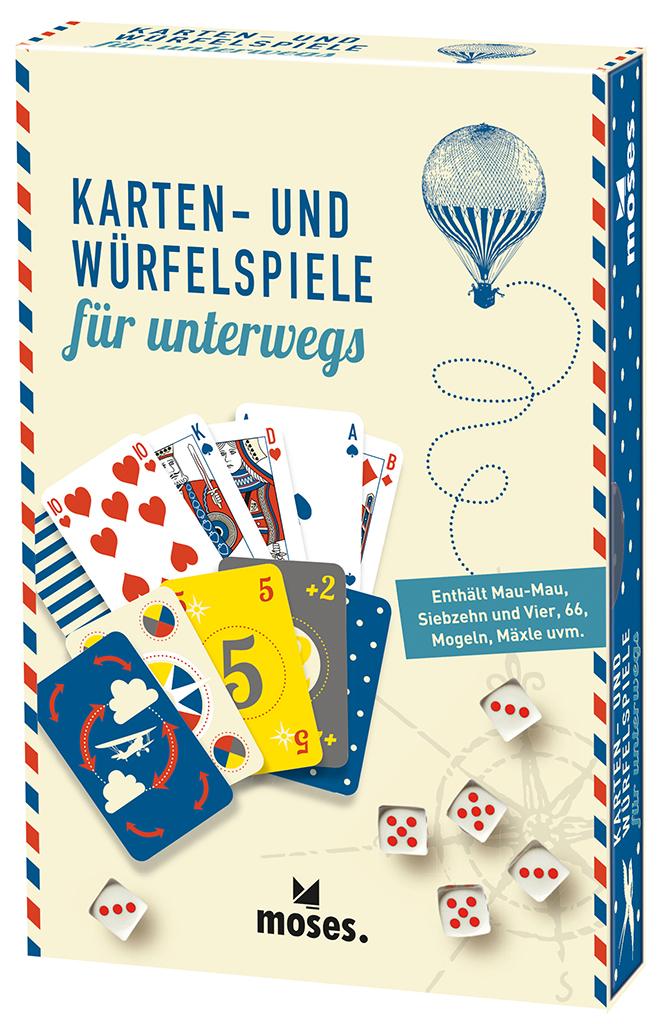 Fernweh Karten- und Würfelspiele für unterwegs