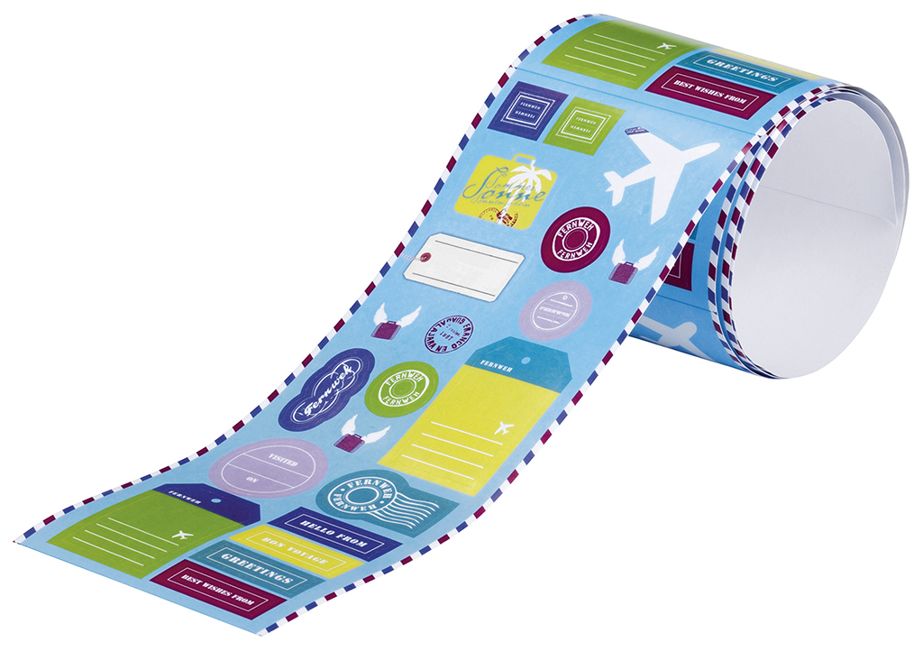 Fernweh Stickerrolle