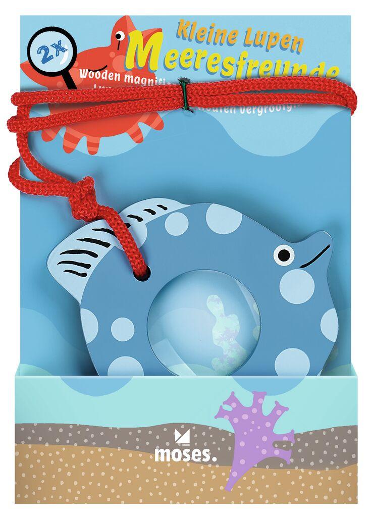 Kleine Lupe aus Holz Meeresfreunde Fisch