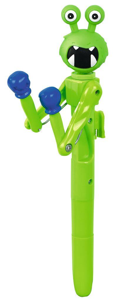 Kugelschreiber Monster-Battle grün