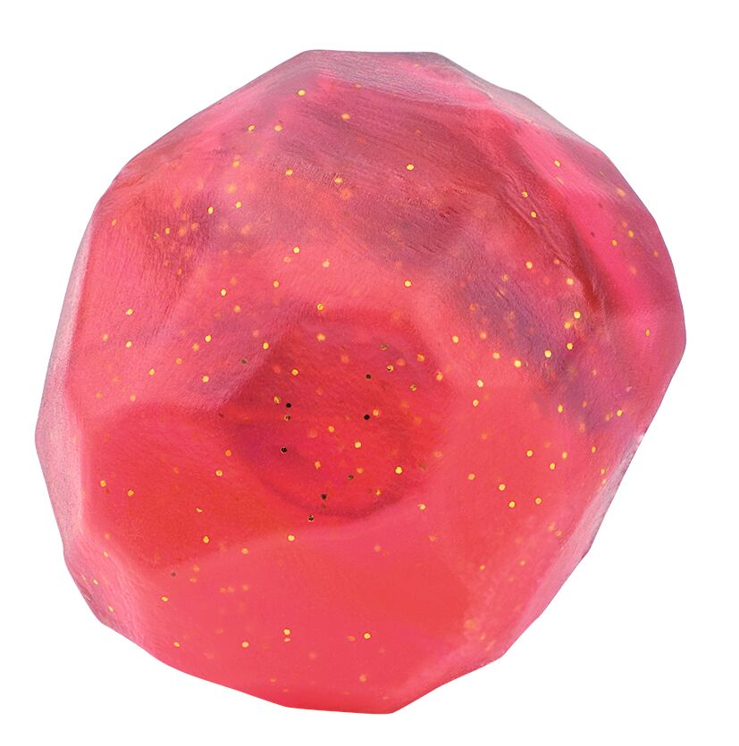 Funkelnder Edelsteinflummi Drachenschatz rot