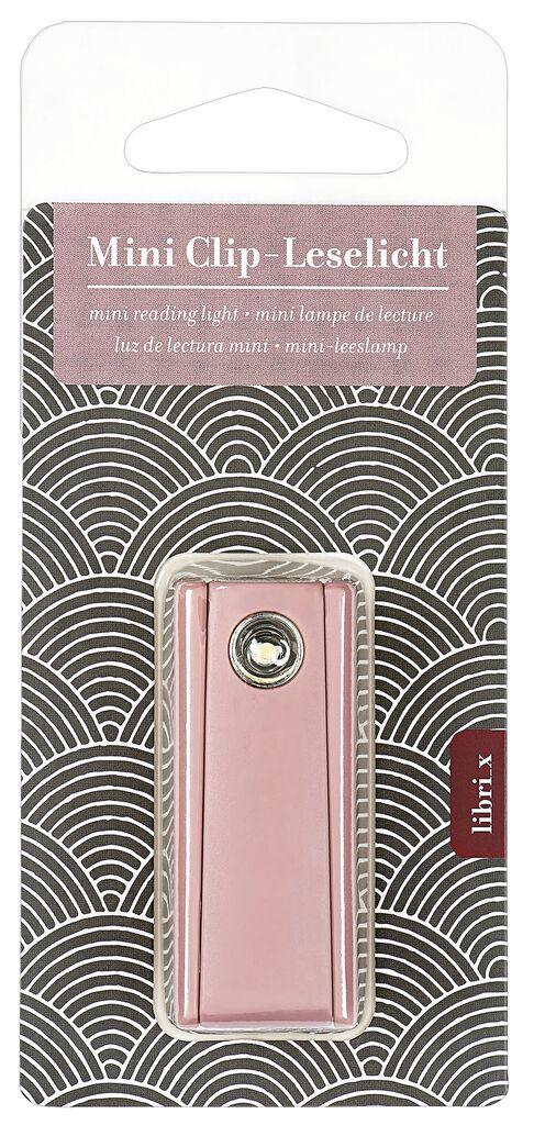 Mini Clip-Leselicht rosa