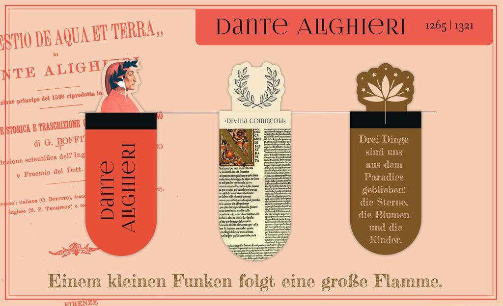 Magnetlesezeichen Dante Alighieri