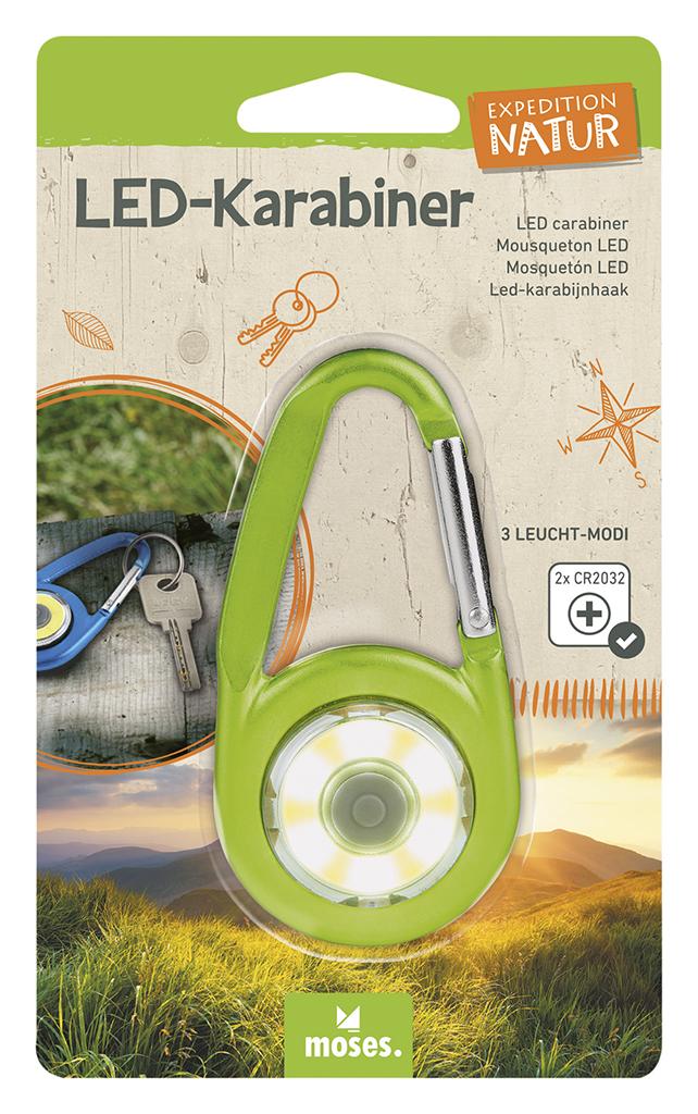 Expedition Natur LED-Karabiner grün