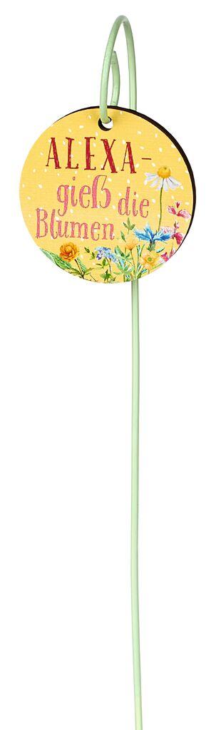 Blatt & Blüte Pflanzenschild Alexa