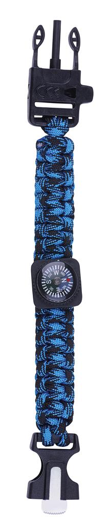 Expedition Natur Survival-Armband blau