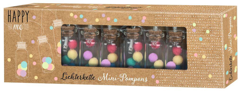 Happy me Lichterkette Pompons