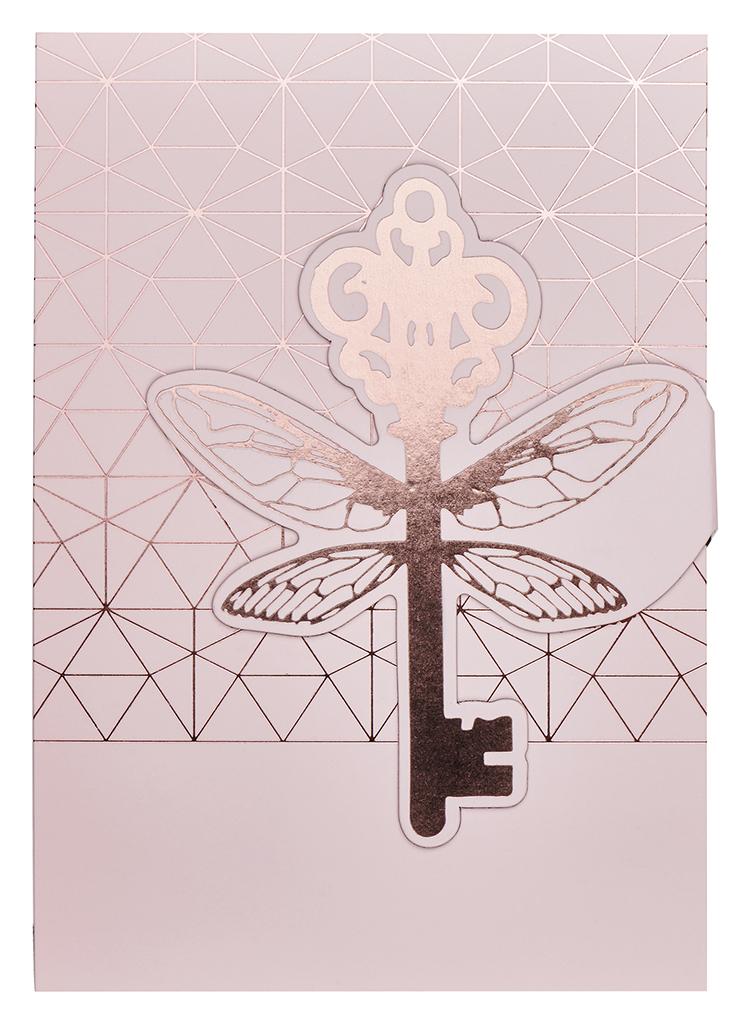 Magnetlesezeichen Grußkarte Schlüsselmoment