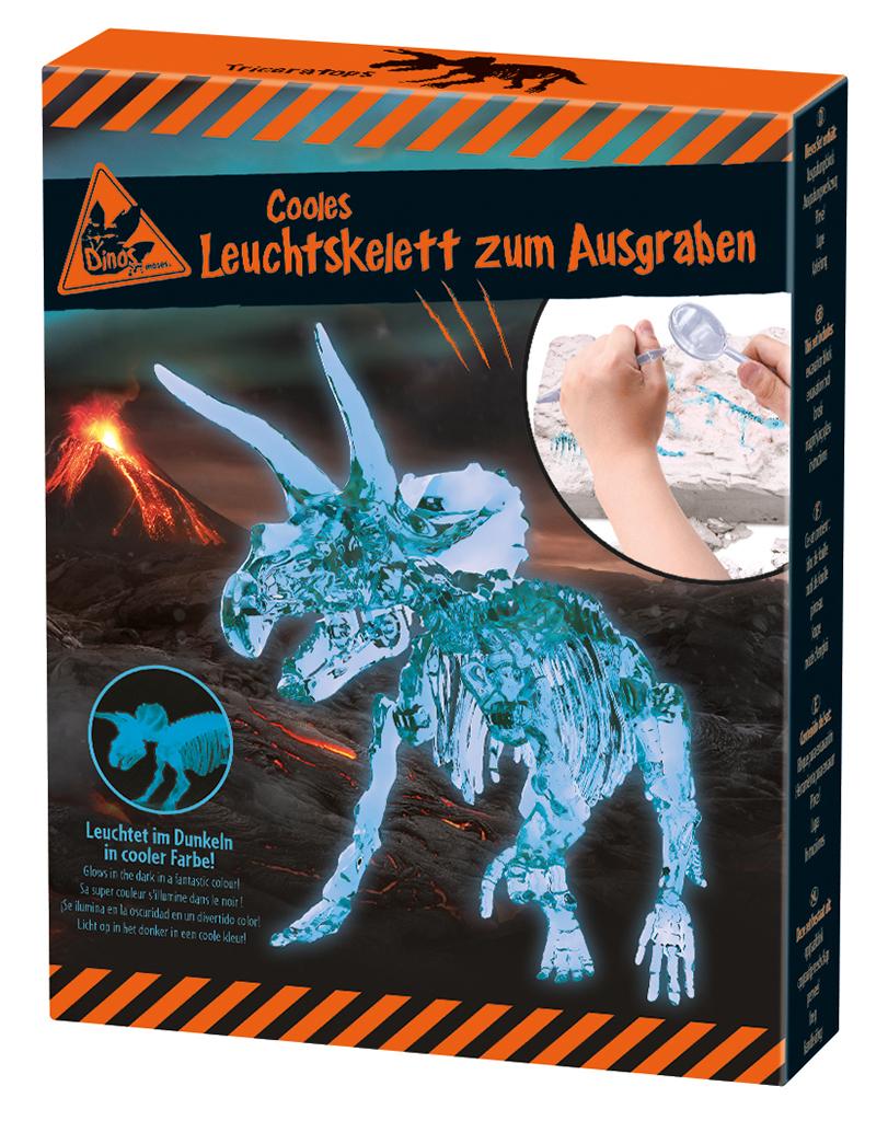 Cooles Leuchtskelett zum Ausgraben Triceratops