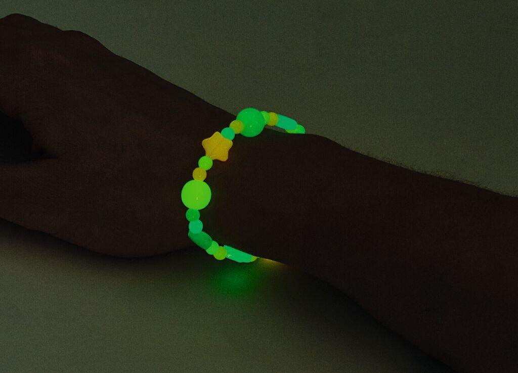 Leuchtende Bastelperlen
