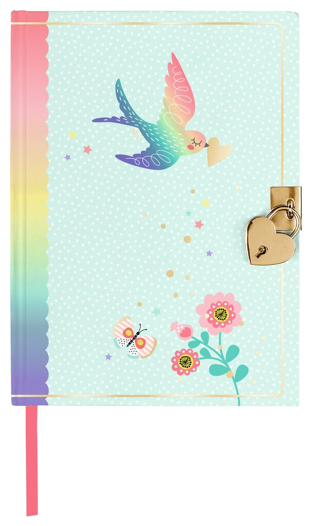 """Flowers & Friends Tagebuch """"Heart Bird"""""""