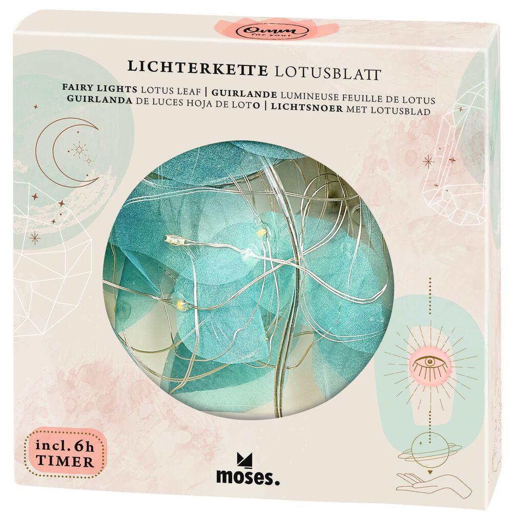 Omm for you Lichterkette Lotusblatt