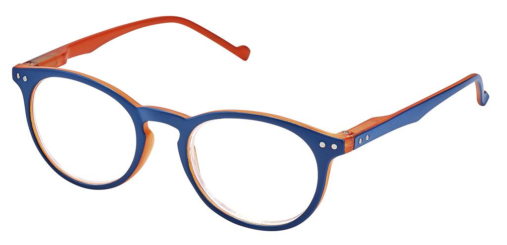Lesehilfe Bicolor +1.5 orange-blau