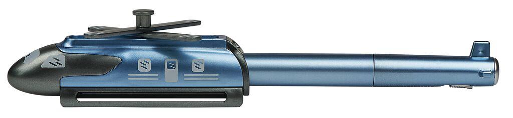 Heli-Kugelschreiber mit LED blau