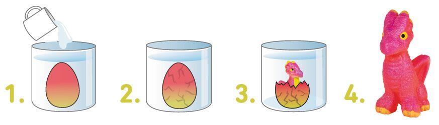 Schlüpfender Drache im Ei (versch. Varianten)