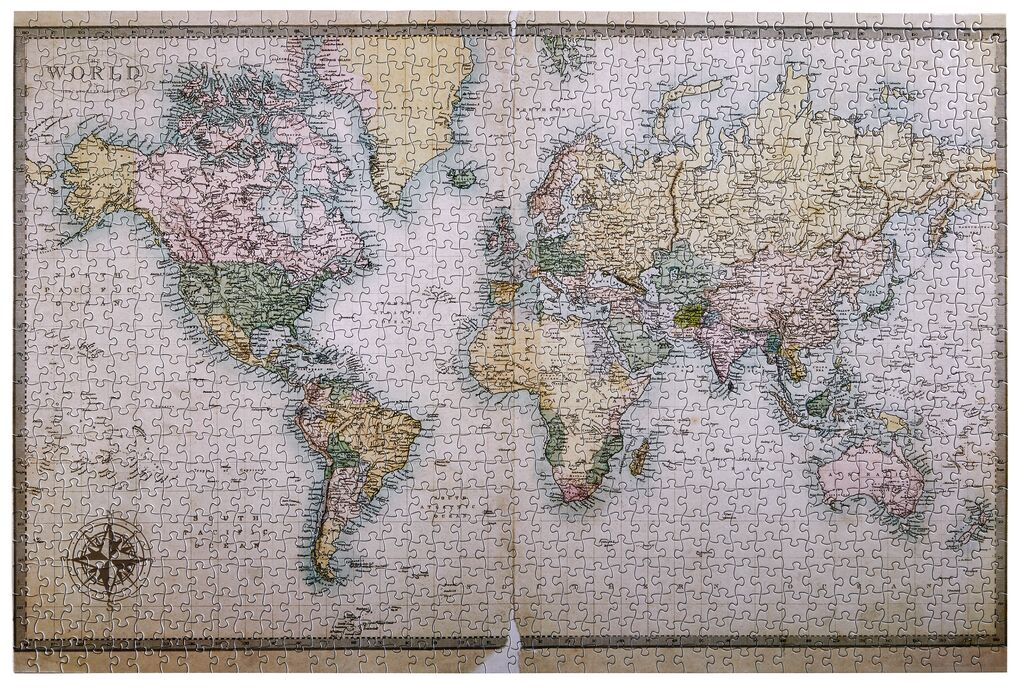 1.000 Teile Puzzle Vintage Weltkarte