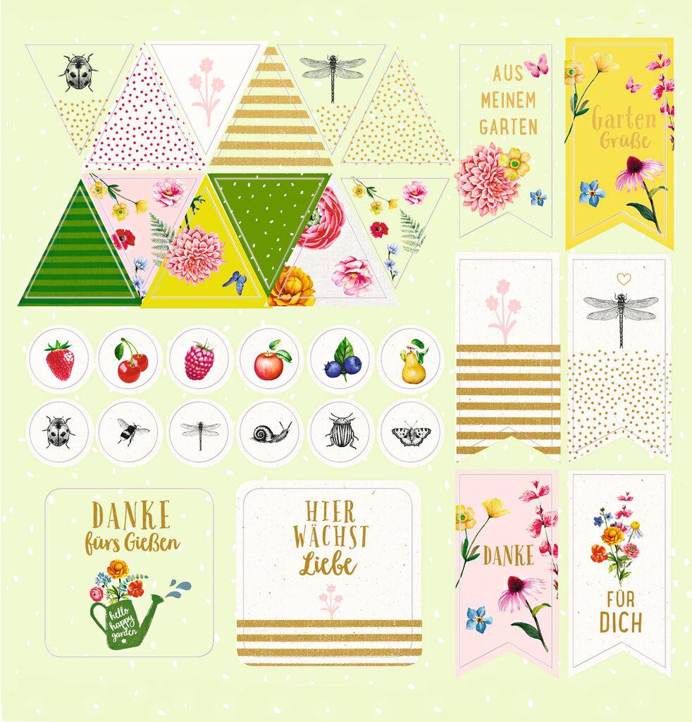 Blatt & Blüte Stickerbuch Gartenliebe