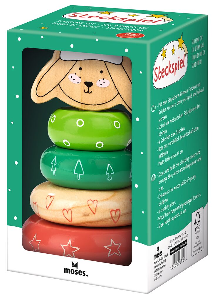 Steckspiel Weihnachtsfreunde Hase