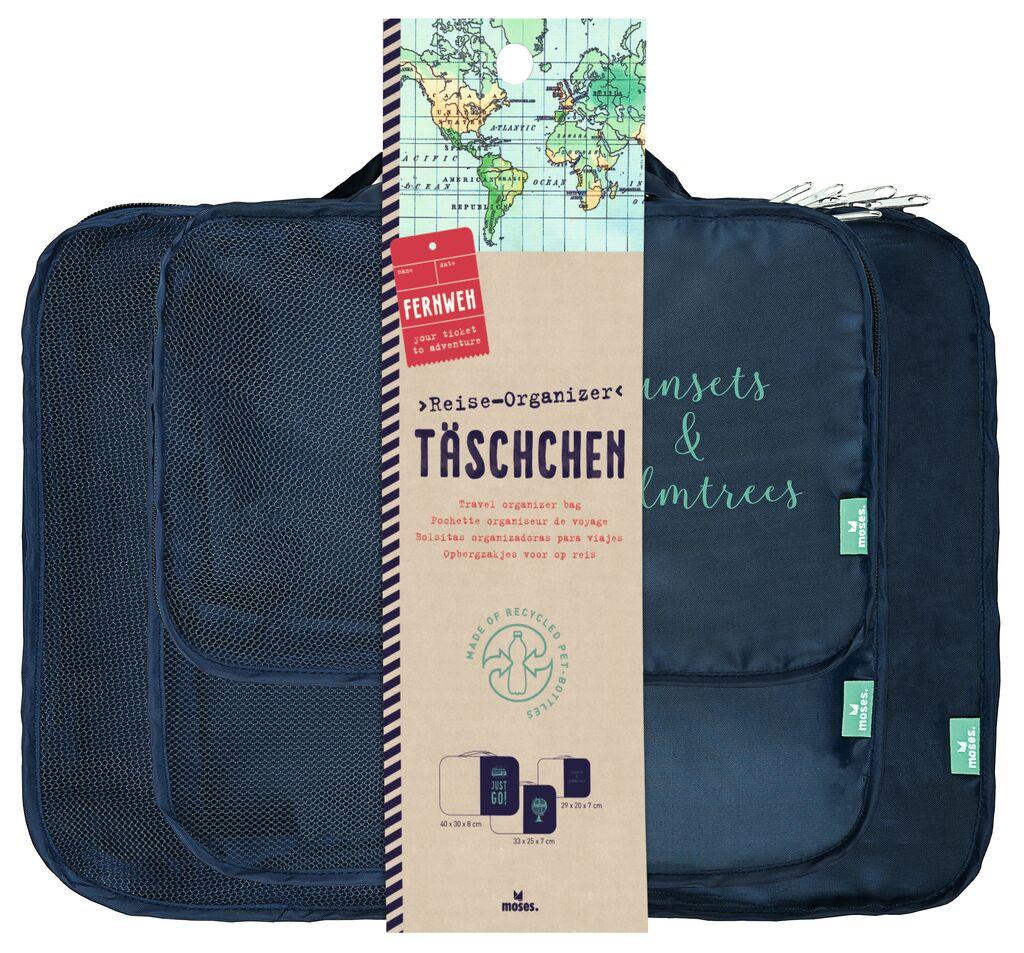 Fernweh Reise-Organizer-Täschchen 3er Set