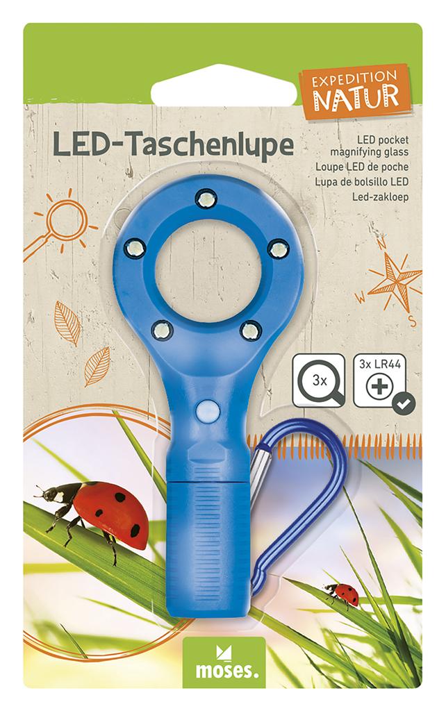 Expedition Natur LED-Taschenlupe blau