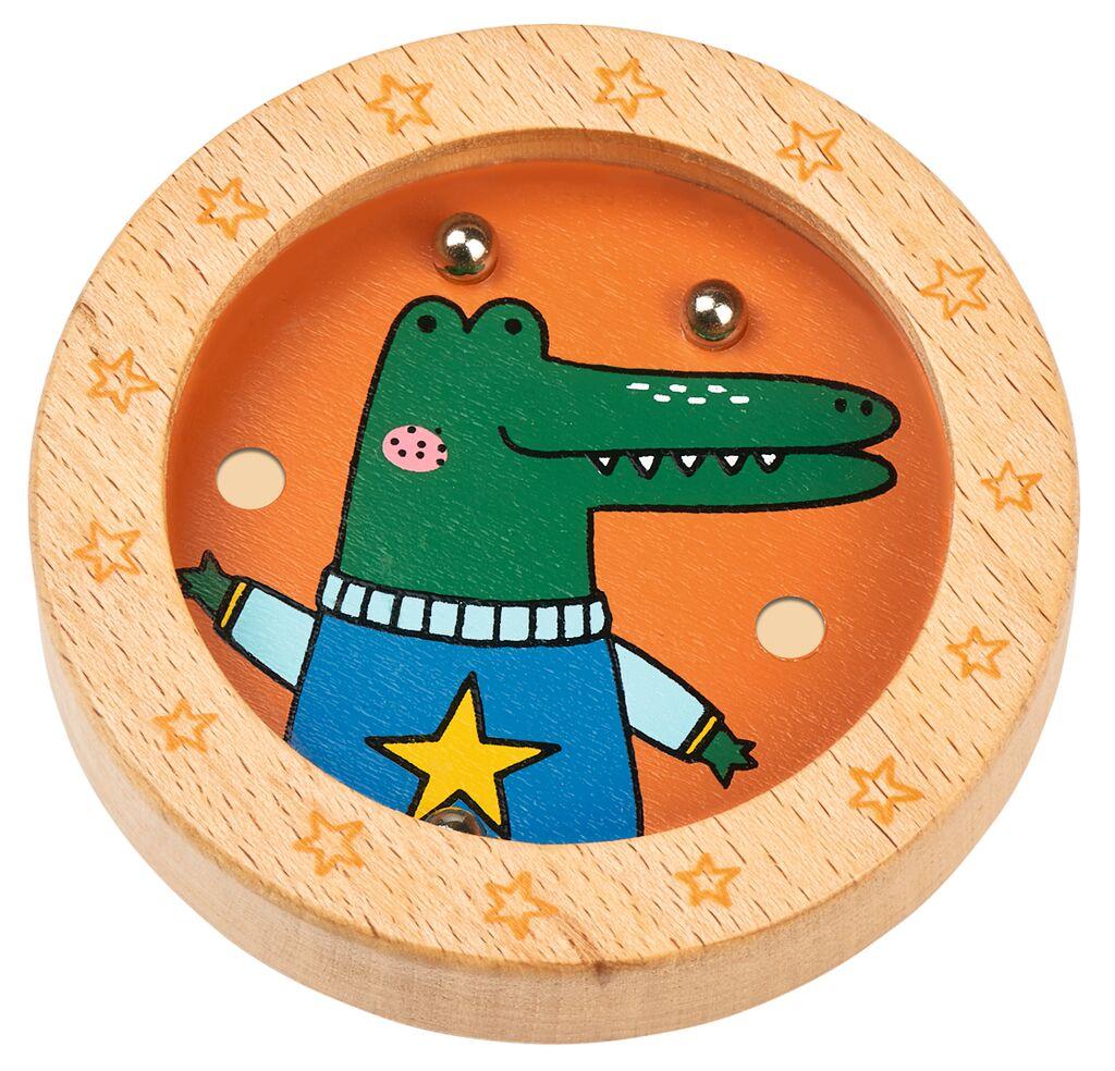 Holz-Geduldspiel Weihnachtsfreunde Krokodil