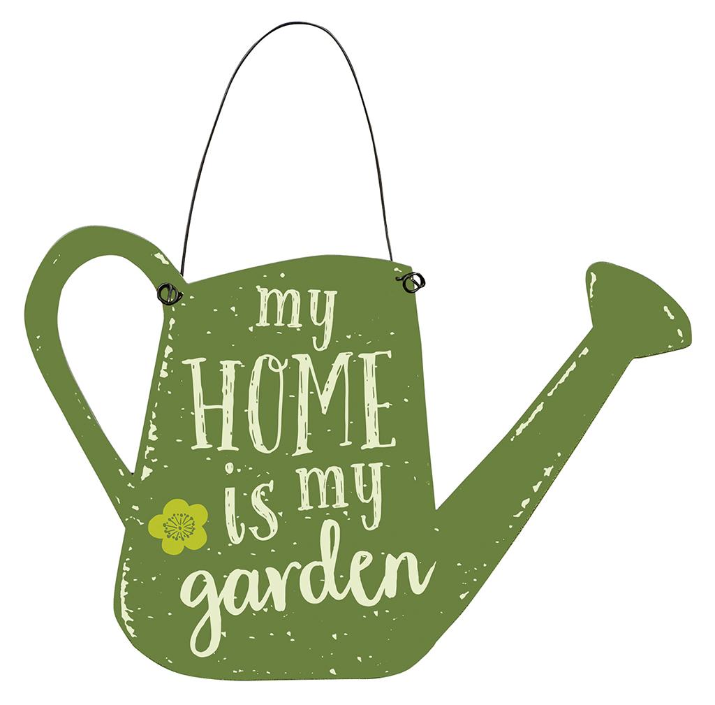 Blatt & Blüte Gartenschild my home