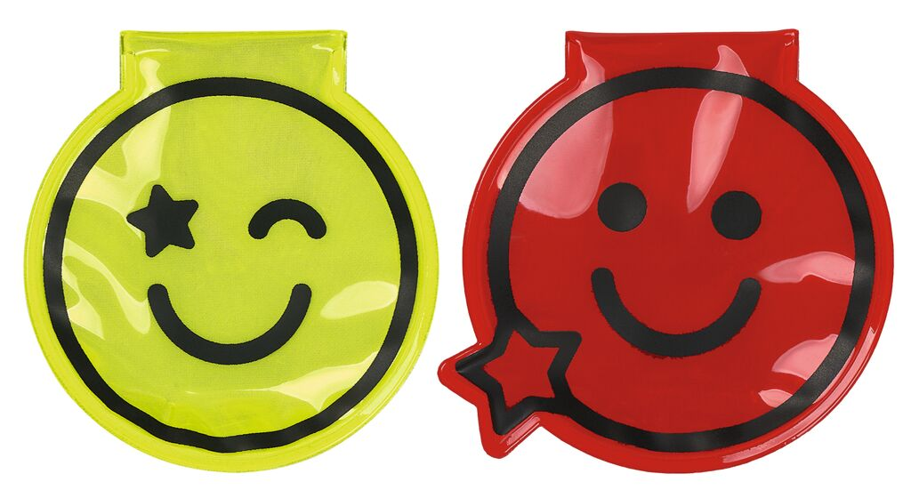 Magnet Clip mit LED Smile rot