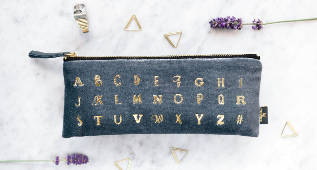 Samtmäppchen Alphabet