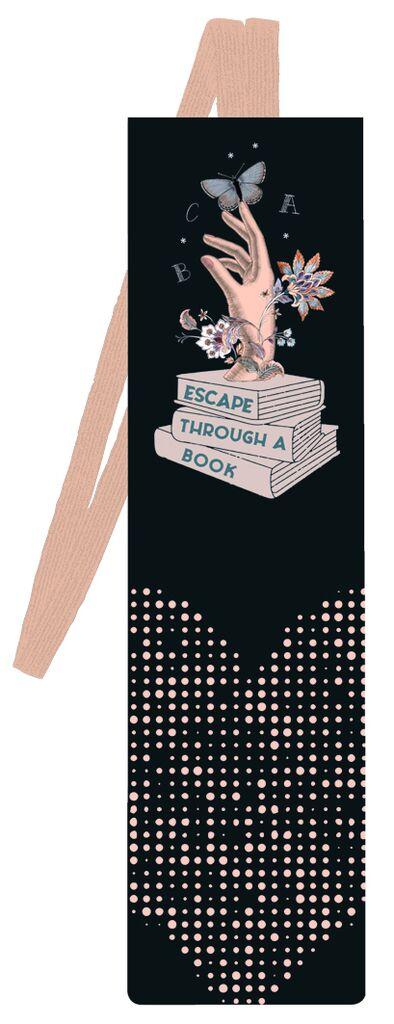 Lesezeichen mit Band Escape