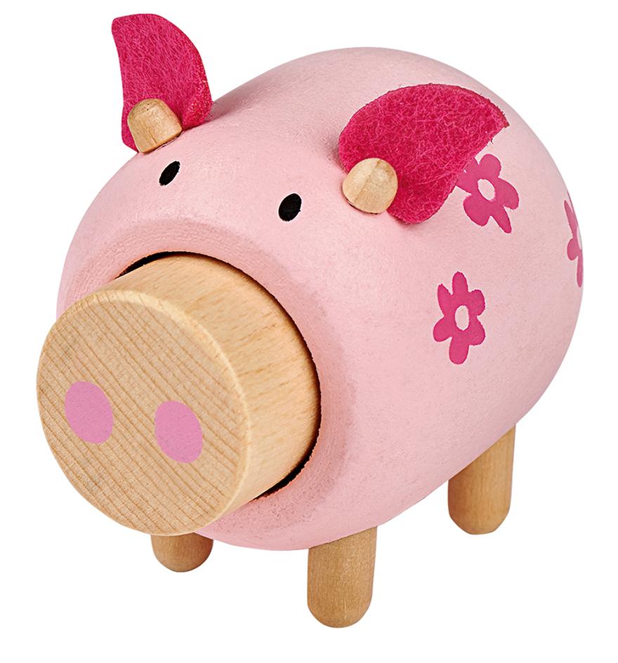 L. Bauernhof-Freund aus Holz mit Sound Schwein