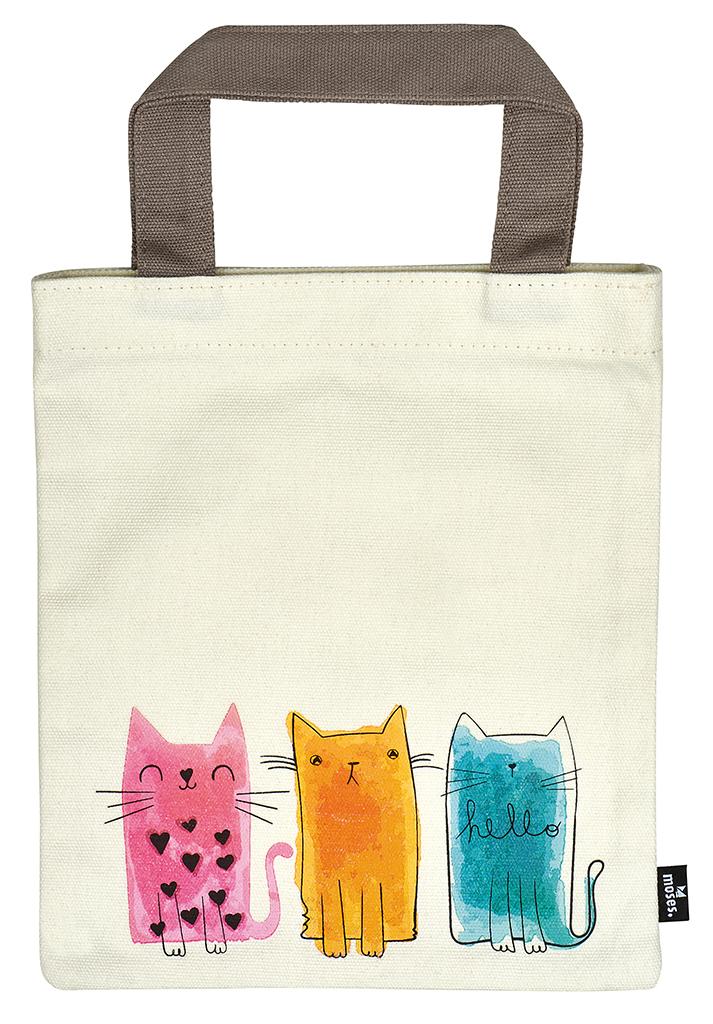 Büchertasche Katzentrio
