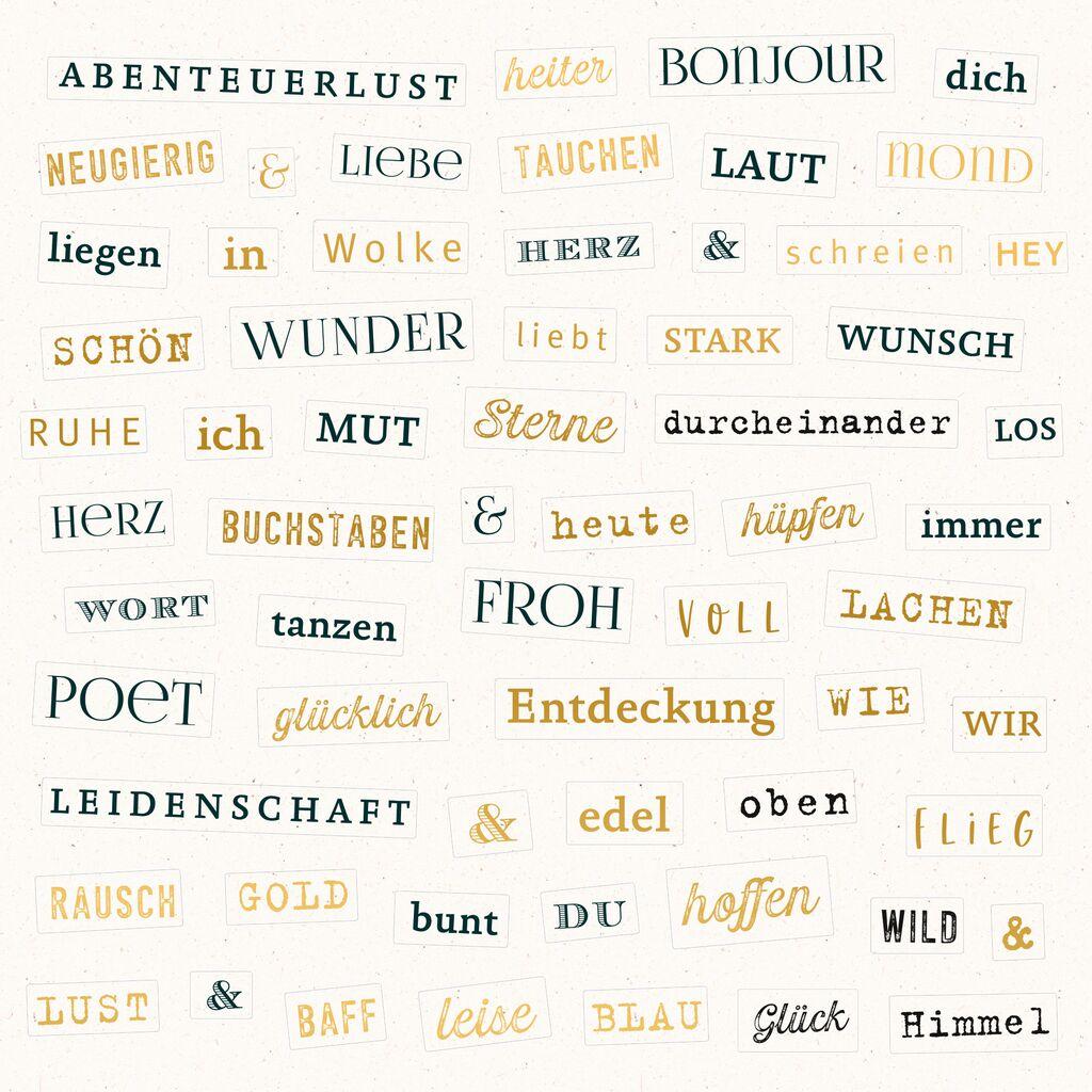 Stickerbuch Schnipselpoesie