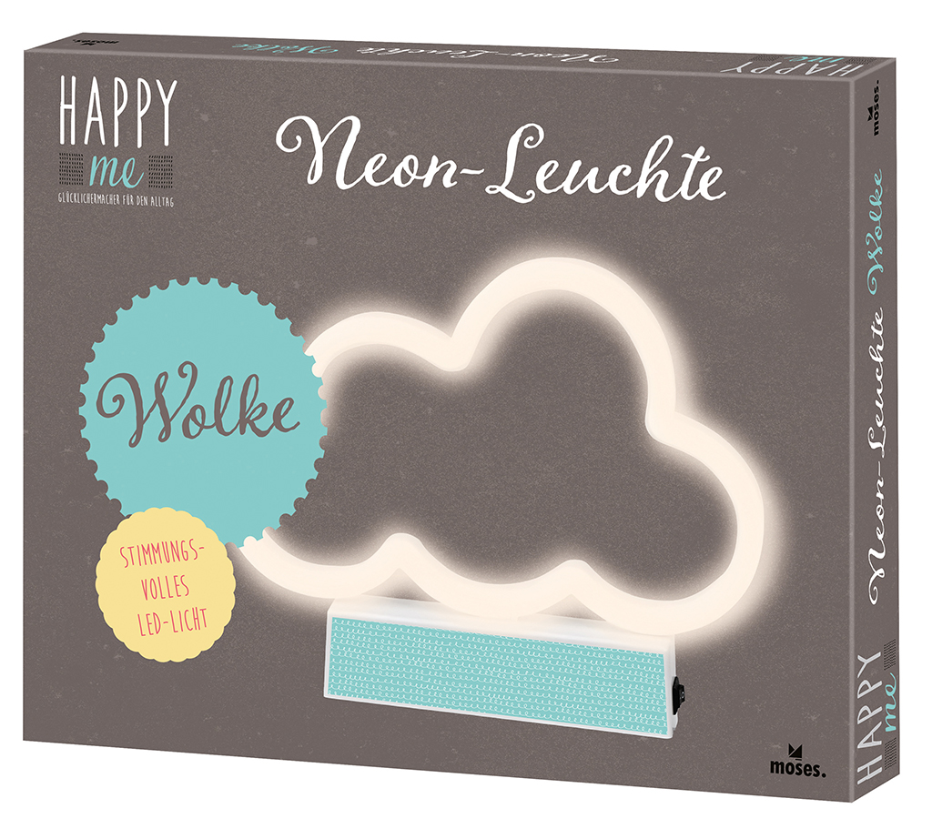 Happy me Neon-Leuchte Wolke