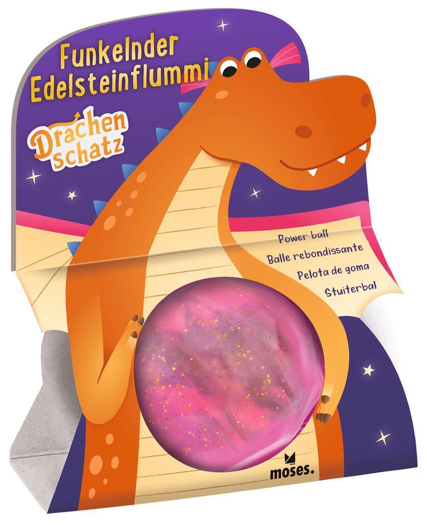 Funkelnder Edelsteinflummi Drachenschatz pink