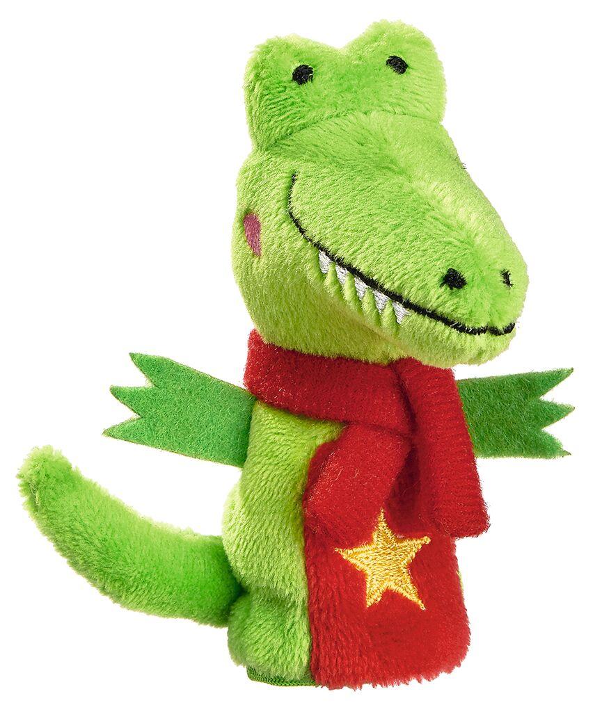 Fingerpüppchen Weihnachtsfreunde Krokodil