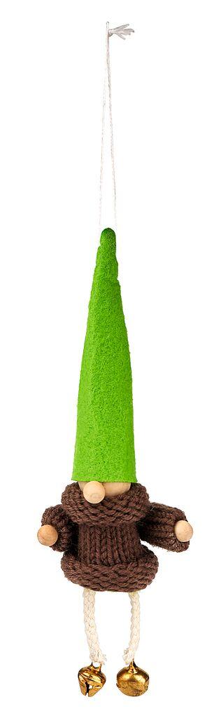 Anhänger Klingelnder Wichtel grün