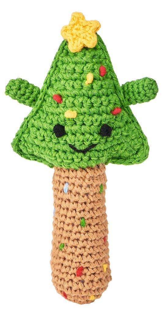 Häkelrassel Weihnachtsfreunde Tannenbaum