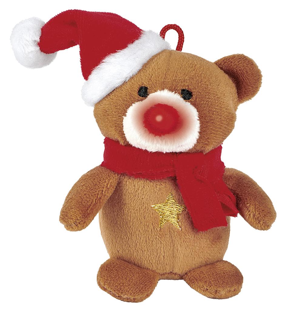 Singender Weihnachtsfreund Bär