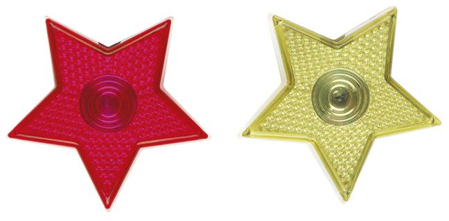 Leuchtender Sternen-Clip (versch. Farben)