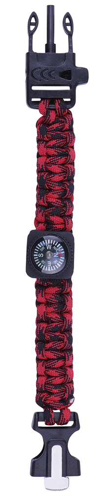 Expedition Natur Survival-Armband rot