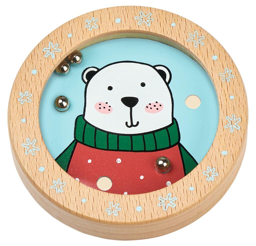 Holz-Geduldspiel Weihnachtsfreunde Eisbär