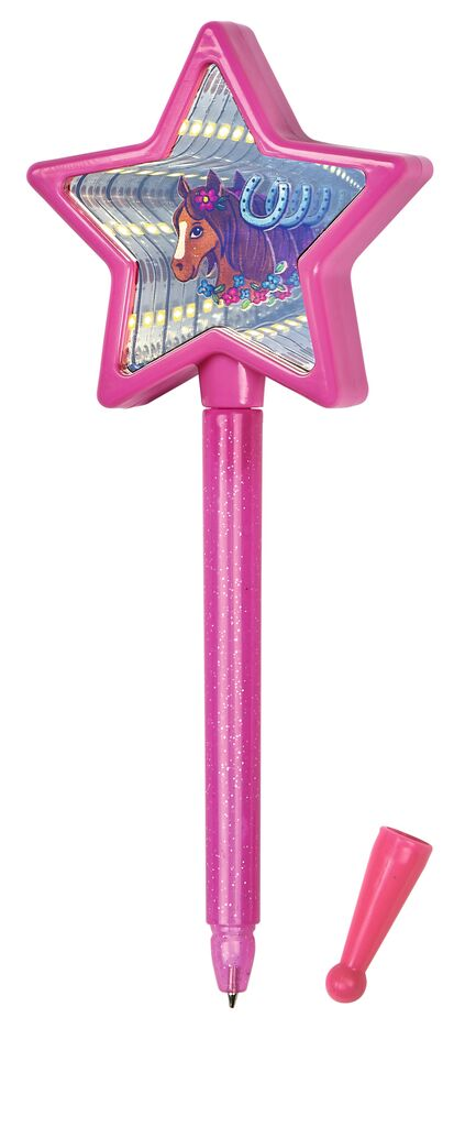 Kugelschreiber Magischer Spiegel pink